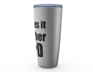 She Gets It From Her Dad Hockey Viking Tumbler Travel Mug