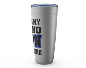 That's My Grandson Out There Hockey blue Viking Tumbler Travel  Mug