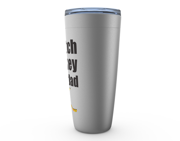 I Watch Hockey With Dad Viking Tumbler Travel Mug