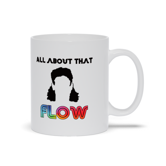 All About That Flow Hockey Hair Ceramic Coffee Mug