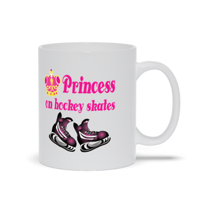 Princess on Hockey Skates Ceramic Coffee Mug