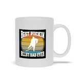 Best Puckin Billet Dad Ever Hockey Ceramic Coffee Mug