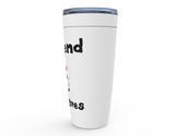I Spend She Saves Hockey Goalie Viking Tumbler Travel Mug