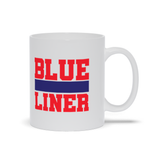 Blue Liner Hockey Ceramic Coffee Mug