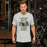 I Support Wildlife I Coach Hockey Short-Sleeve Unisex T-Shirt