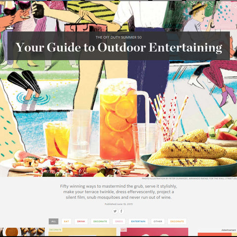 WSJ's Guide to Outdoor Entertaining