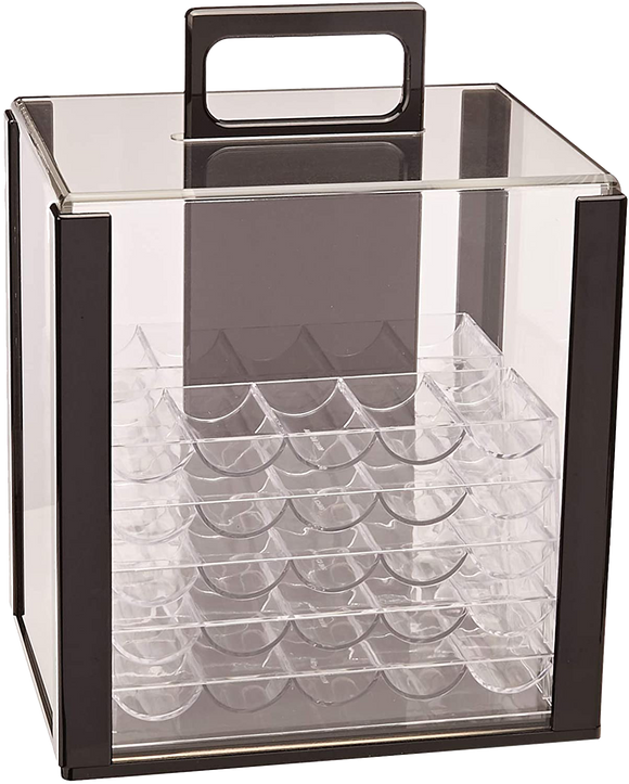 1000 Chip Acrylic Carrier with Trays