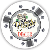 Desert Sands Ceramic Dealer Button (49mm or 60mm)