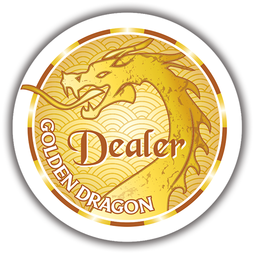 Golden Dragon Dealer Button (49mm or 60mm)