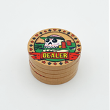 Dia de los Muertos Dealer Button - Tan (49mm or 60mm)