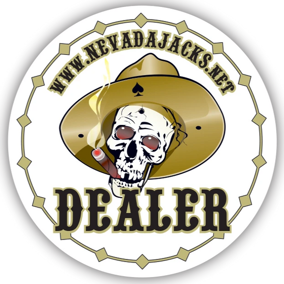 Nevada Jacks Ceramic Dealer Button (49mm or 60mm)