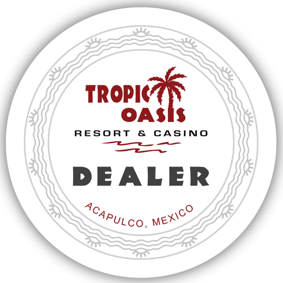 Tropic Oasis Dealer Button (49mm or 60mm)