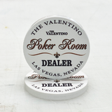 Valentino Ceramic Dealer Button (49mm or 60mm)