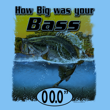 Load image into Gallery viewer, Bass (Custom Fish Size) Long Sleeve Shirt