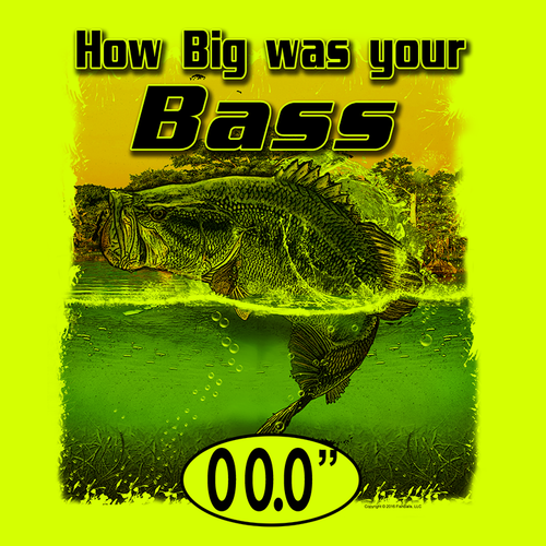 Bass (Custom Fish Size) Long Sleeve Shirt