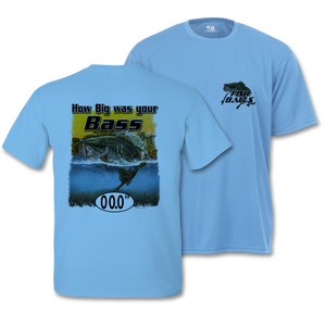 Bass (Custom Fish Size) Adult Short Sleeve Tee