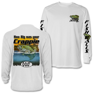 Crappie (Custom Fish Size) Adult Long Sleeve Tee