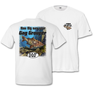 Gap Grouper (Custom Fish Size) Short Sleeve Tee