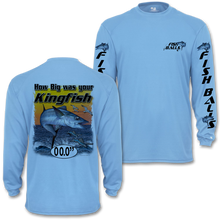 Load image into Gallery viewer, KingFish (Custom Fish Size) Adult Long Sleeve Tee