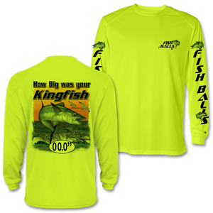 KingFish (Custom Fish Size) Adult Long Sleeve Tee