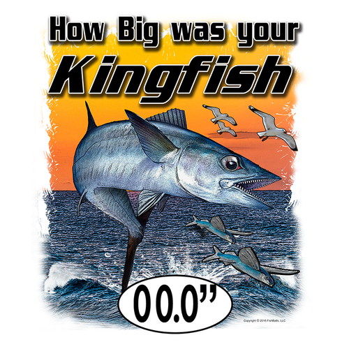 KingFish (Custom Fish Size) Adult Short Sleeve Tee