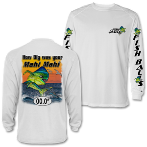 Mahi Mahi (Dolphin) (Custom Fish Size) Long Sleeve Tee
