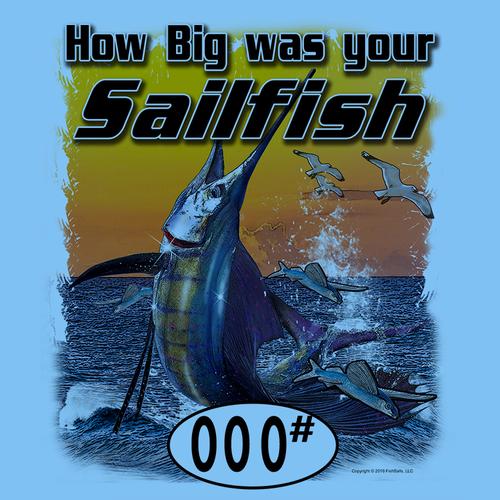 Sailfish (Custom Fish Size) Ladies Tee