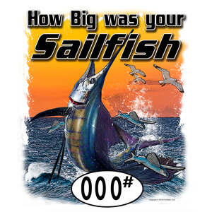 SailFish (Custom Fish Size) Adult Long Sleeve Tee