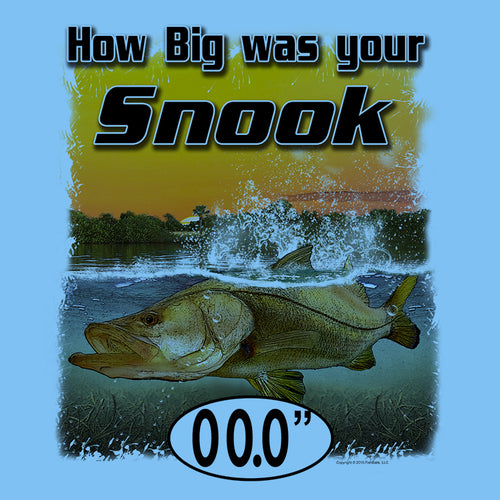 Snook (Custom Fish Size) Ladies Tee