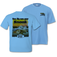 Load image into Gallery viewer, Snook (Custom Fish Size) Adult Short Sleeve Tee