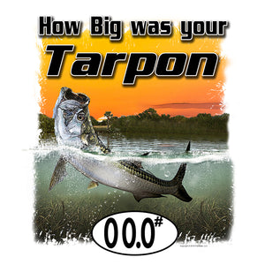 Tarpon (Custom Fish Size) Ladies Tee