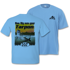 Tarpon (Custom Fish Size) Adult Short Sleeve Tee