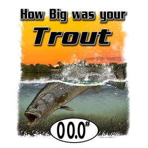 Trout (Custom Fish Size) Adult Short Sleeve Tee