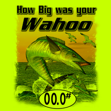 Load image into Gallery viewer, Wahoo (Custom Fish Size) Adult Long Sleeve Tee