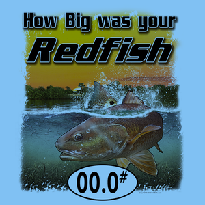 RedFish (Custom Fish Size) Adult short sleeve Tee