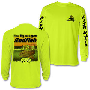 RedFish (Custom Fish Size) Adult Long Sleeve Tee