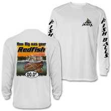 Load image into Gallery viewer, RedFish (Custom Fish Size) Adult Long Sleeve Tee