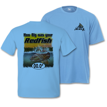 Load image into Gallery viewer, RedFish (Custom Fish Size) Adult short sleeve Tee