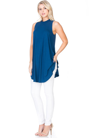 Sleeveless A-LIne Swing Tunic
