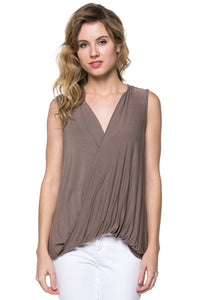 Super soft criss cross top