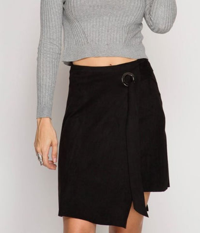 Assymetrical Mini Wrap Skirt