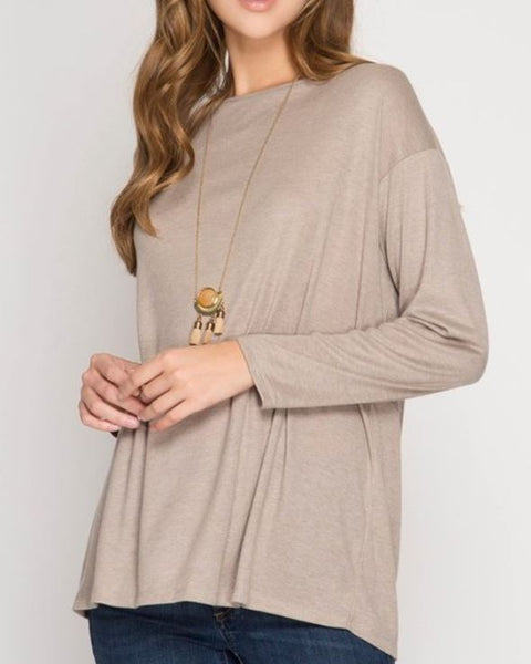 Long Sleeve Top with open back and ties
