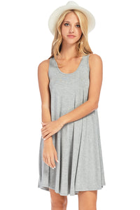 Curvy Sleeveless Casual A-Line Swing Dress