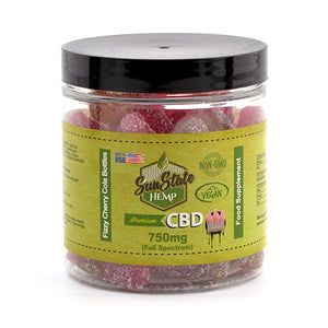 750mg CBD Vegan Fizzy Gummies (50 Pieces - 15mg each) - The CBD Selection