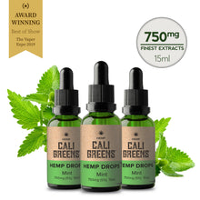 Load image into Gallery viewer, Cali Greens CBD Oils 15ml - 750mg* - The CBD Selection