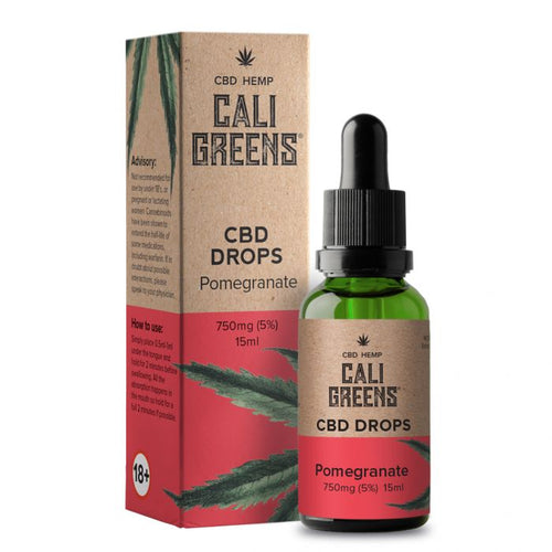 Cali Greens CBD Oral Drops (Pomegranate) 15ml - 750mg - The CBD Selection