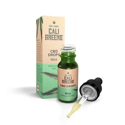 Cali Greens CBD Oral Drops (Mint) 15ml CBD - 1500mg - The CBD Selection