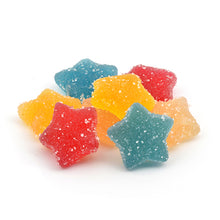 Load image into Gallery viewer, 750mg CBD Vegan Fizzy Stars Sweets (30 Pieces - 25mg each - The CBD Selection