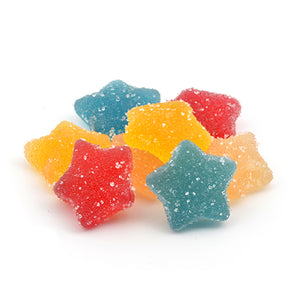 750mg CBD Vegan Fizzy Stars Sweets (30 Pieces - 25mg each - The CBD Selection