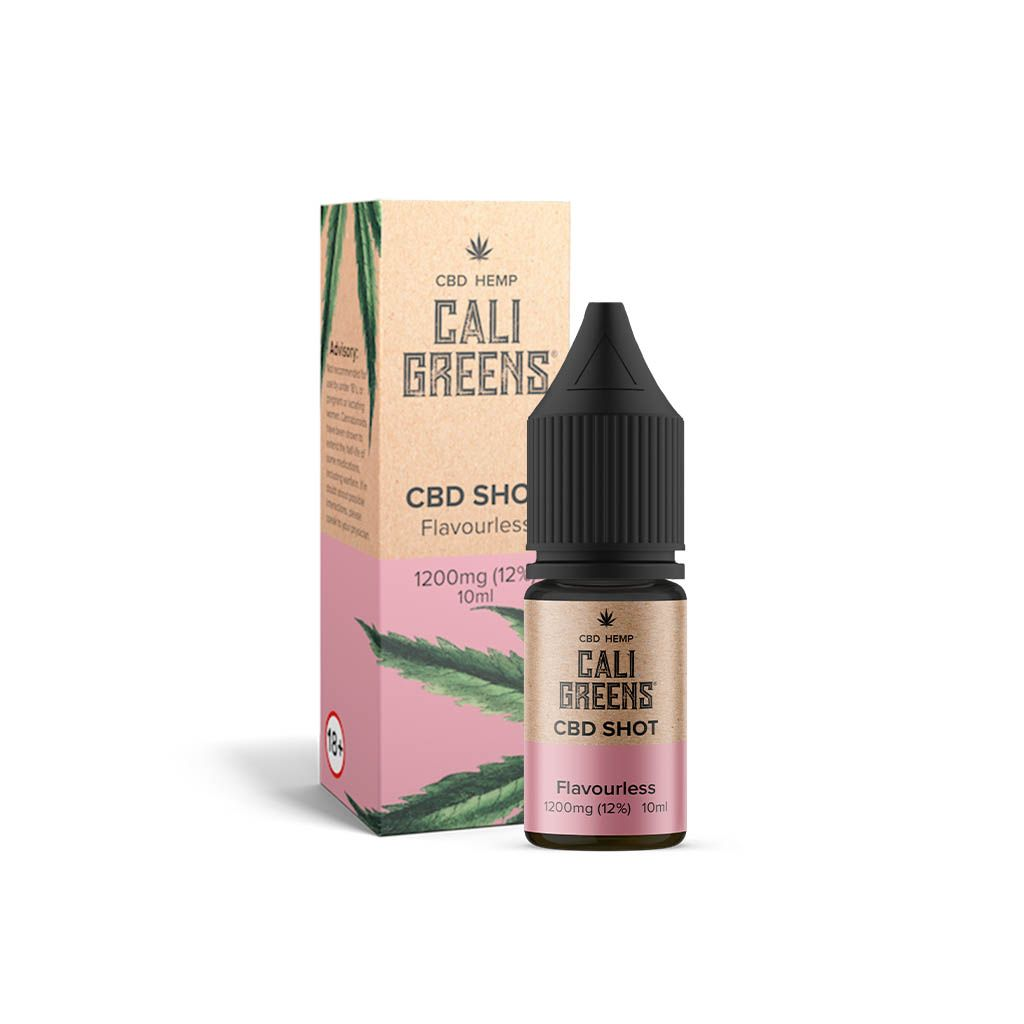 Cali Greens Flavourless Shot 10ml CBD E-Liquid - 1200mg* - The CBD Selection